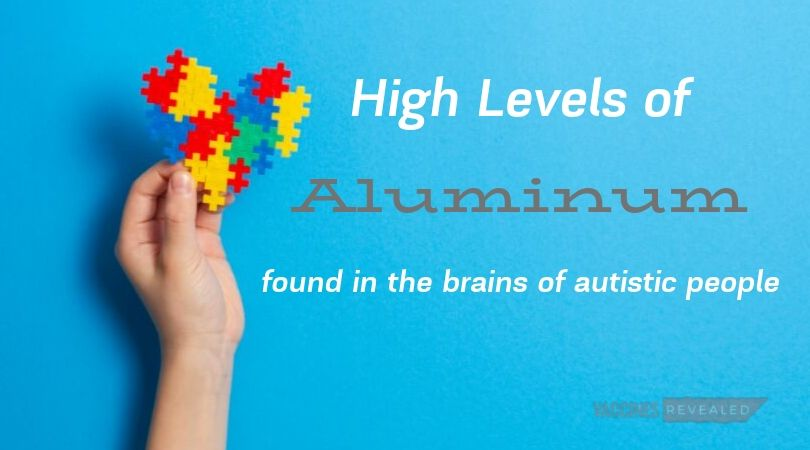 High levels of aluminum found in the brains of autistic people